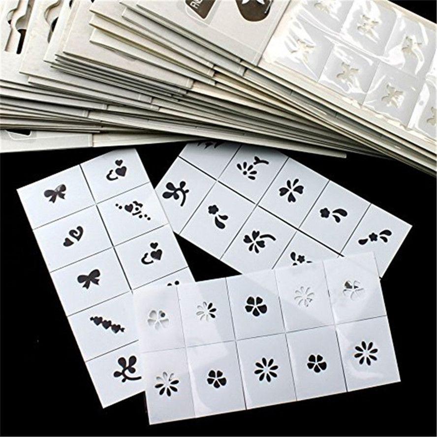 MISMXC 6pcs Pattern Template Stencil Stickers Set Airbrush Stencils ...