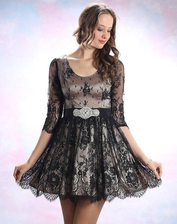 made with French lace, I love this as a bridesmaid's dress!