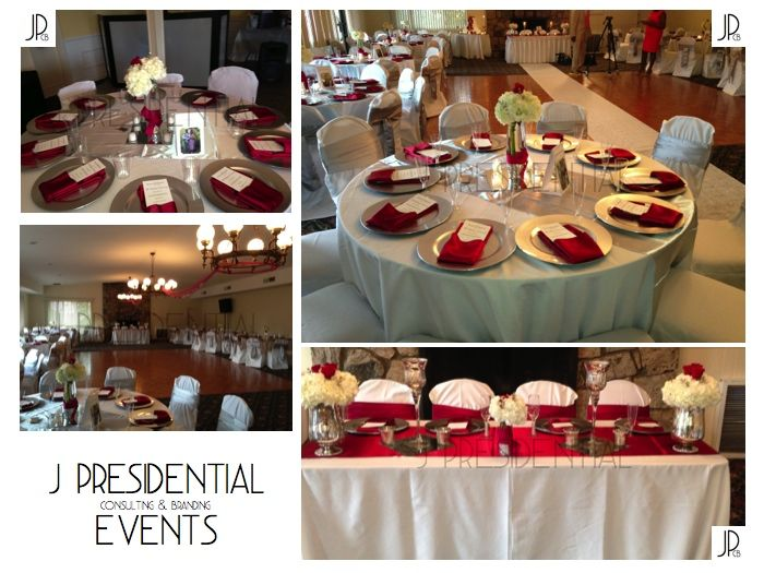 Burgundy Silver Wedding Decor J Presidential Consulting