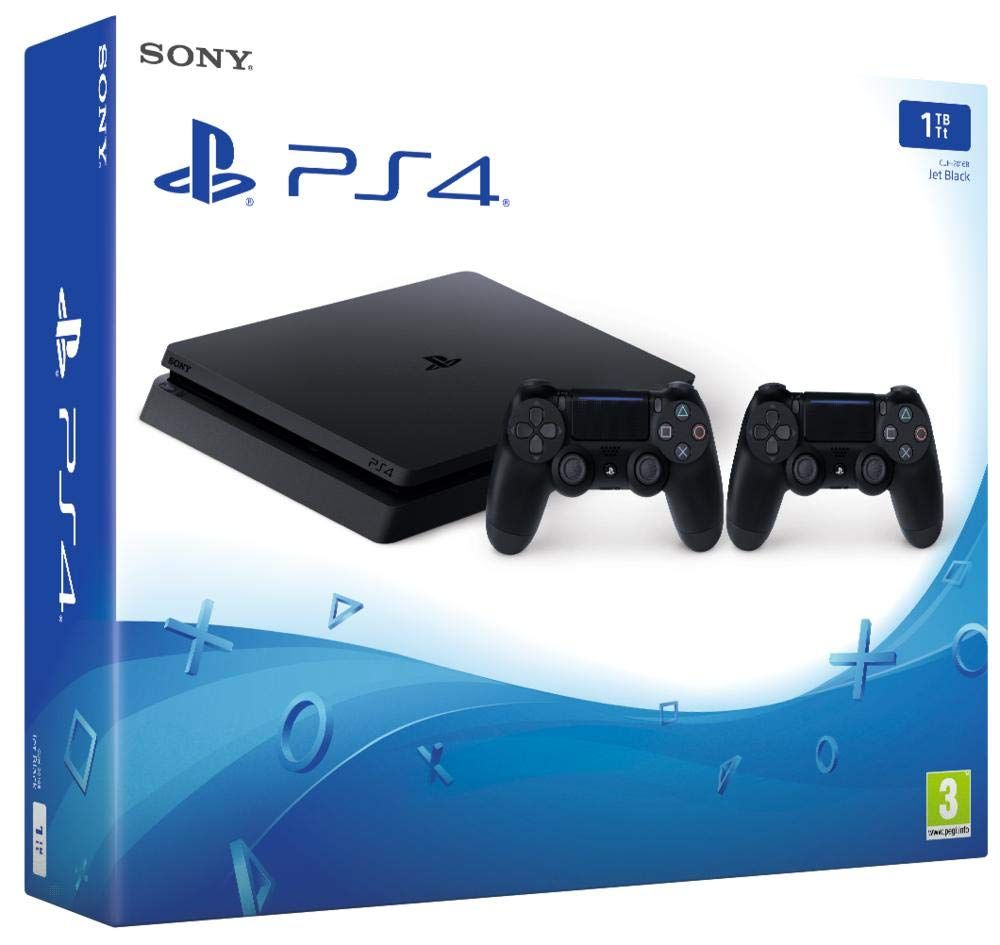 Playstation 4 Ps4 Consola De 1 Tb 2 Dual Shock 4 Wireless