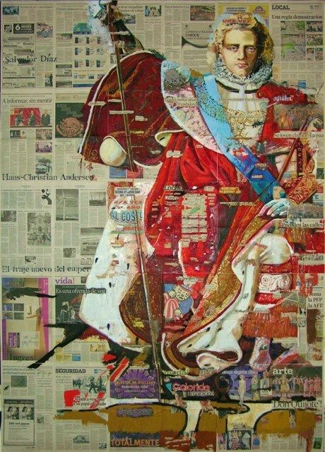 No Longer Available Saatchi Online Artist: Salvador Diaz; Paper, 2008, Assemblage / Collage