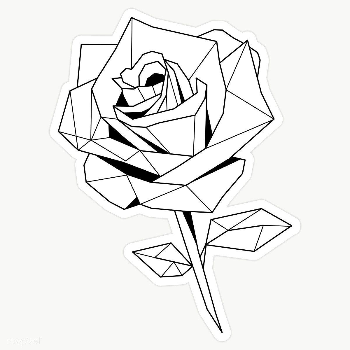 Black And White Rose Sticker Transparent Png Premium Image By Rawpixel Com Sasi Vector Pegatinas Bonitas Tatuajes Falsos Decoracion De Arte De La Pared