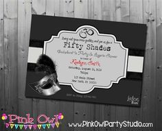 Fifty Shades Of Grey Invitations Google Search Fifty Shades Of