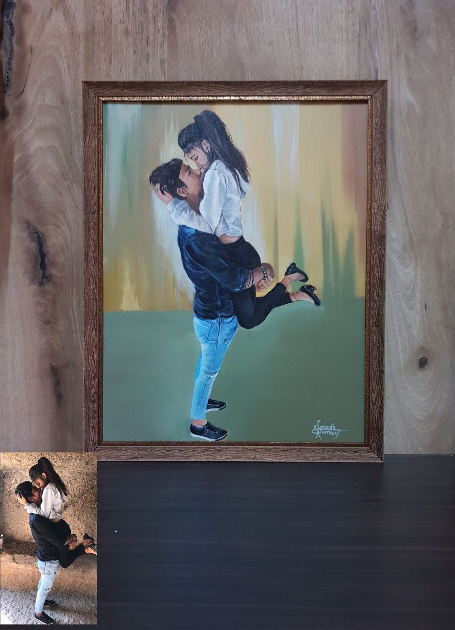 Couple canvas paintings made by me sumedh dream arts