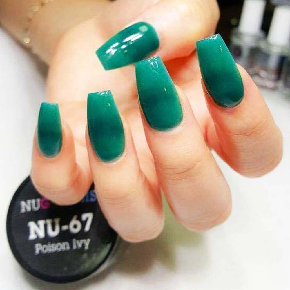 Beautiful Spring Summer Hue Of Green Nail Dip Powder Nail Dipping Powder Colors Powder Nails Green Nails
