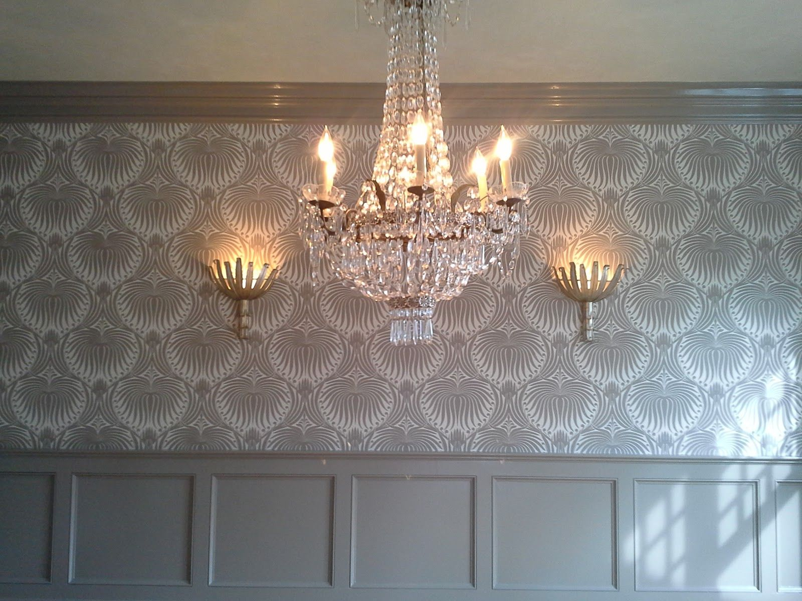 farrow and ball wall paper   Lotus wallpaper, Dining room ...