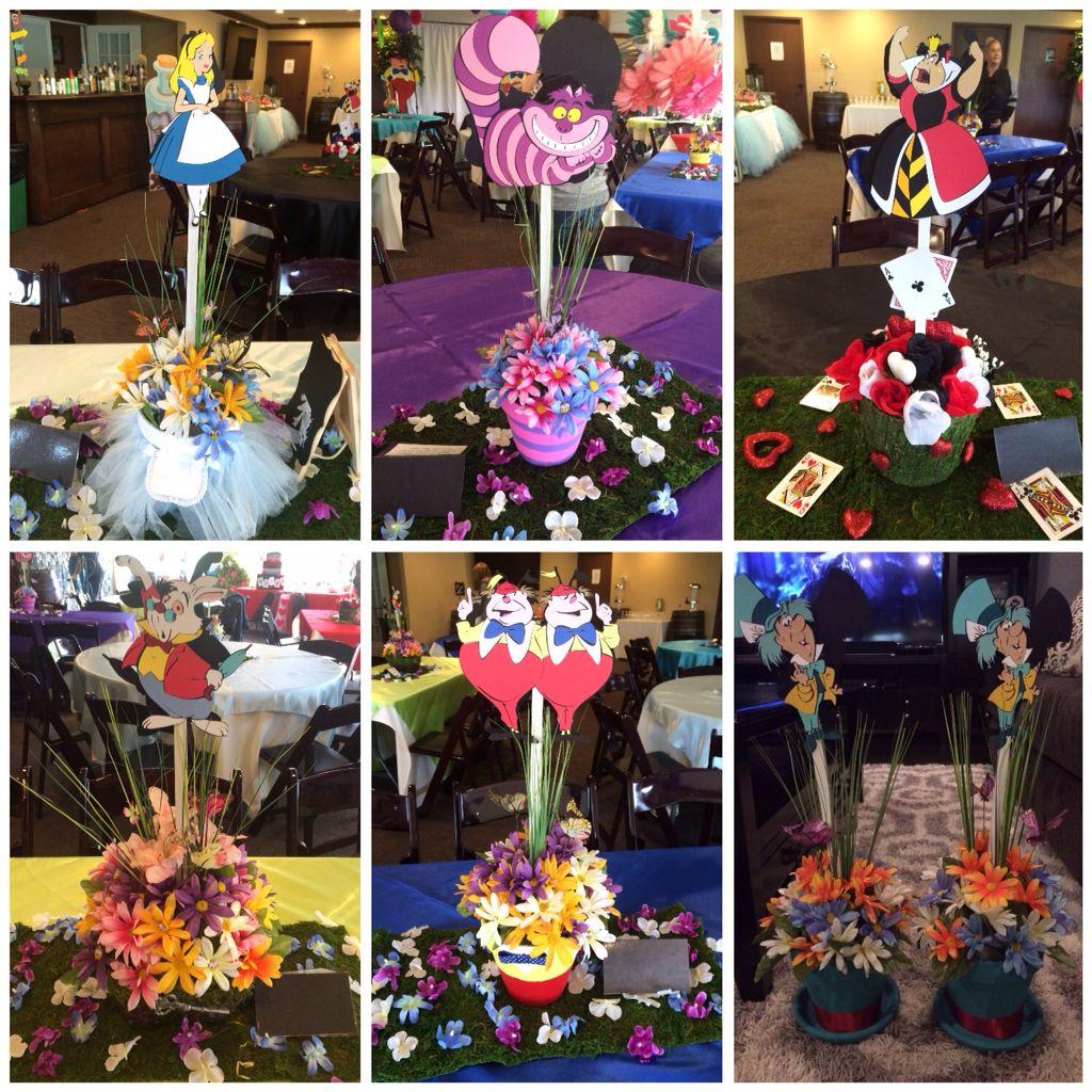 Alice In Wonderland Centerpieces Wonderland Party Decorations