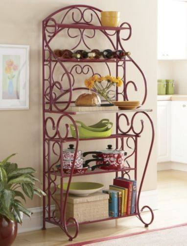 Red Bakers Rack From Through The Country Door Cb61843 Com