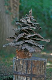 Ein Baum Aus Borke Weihnachtskranz Deko Weihnachten Weihnachten Dekoration
