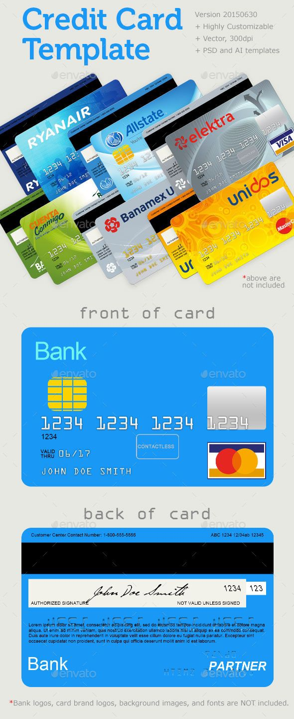 Credit Card Template Miscellaneous Graphics Download Here Https