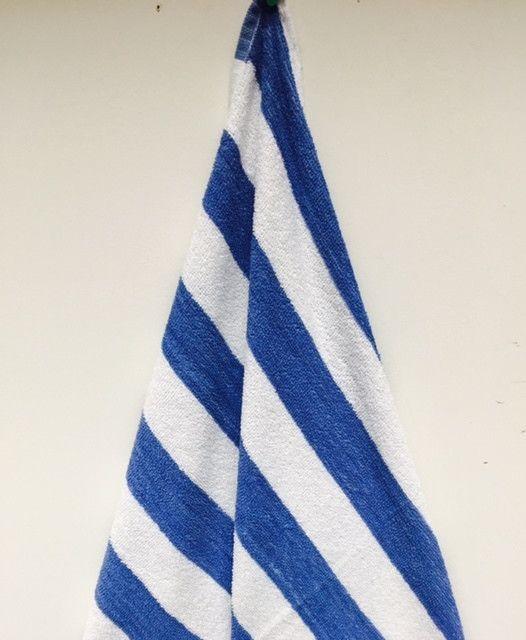 Btg 30 X 70 15 Cabana Stripe Beach Towel Case Of 24 Blue Beach