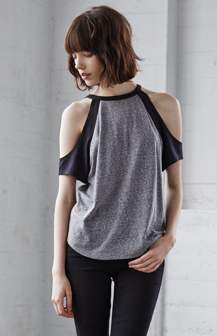 check out 4ef32 d5e43 Pacsun Gray Black Cut Out Arm Top- SIZES  XS  amp  L Brand new