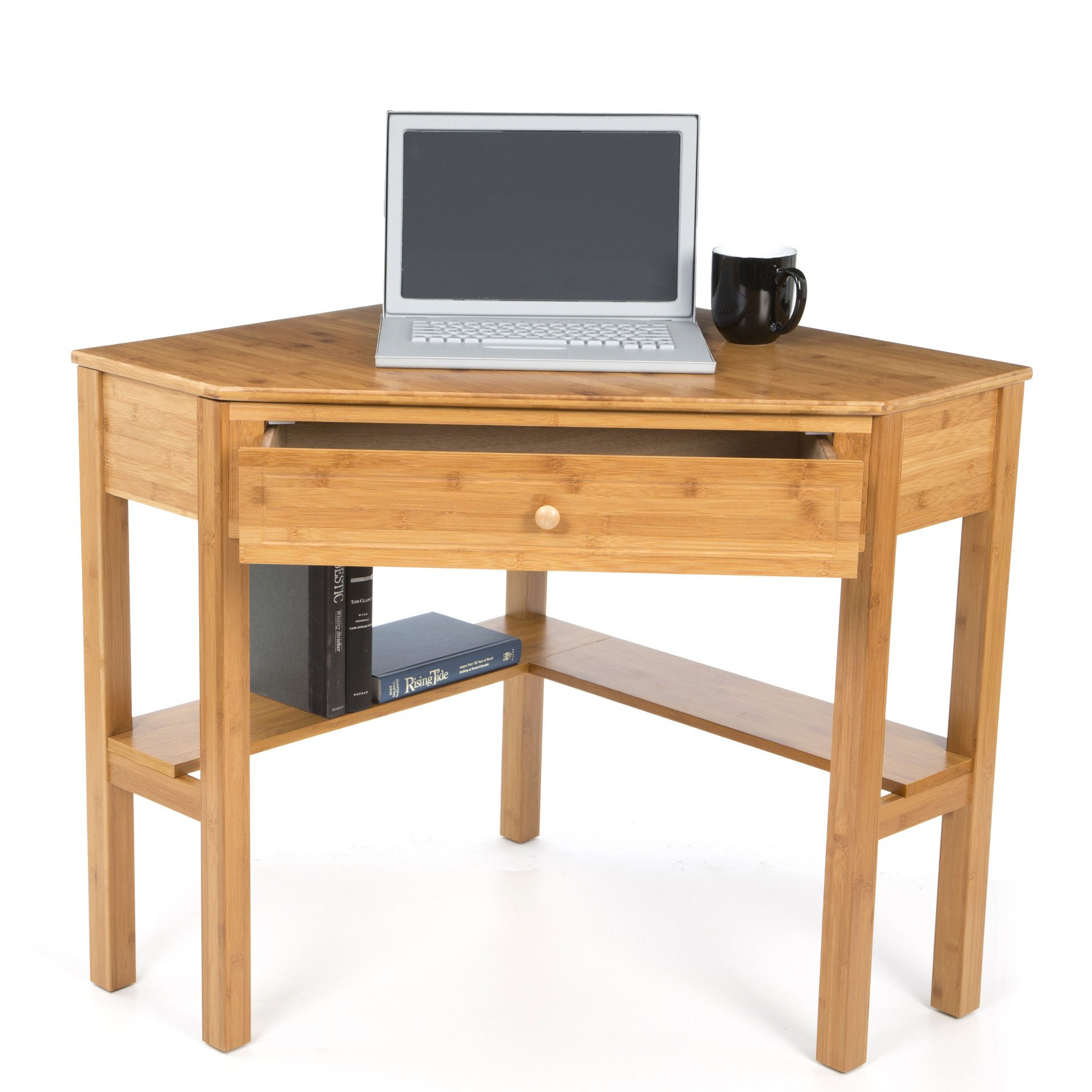 Bamboo Corner Desk Computer Desk With Wheels