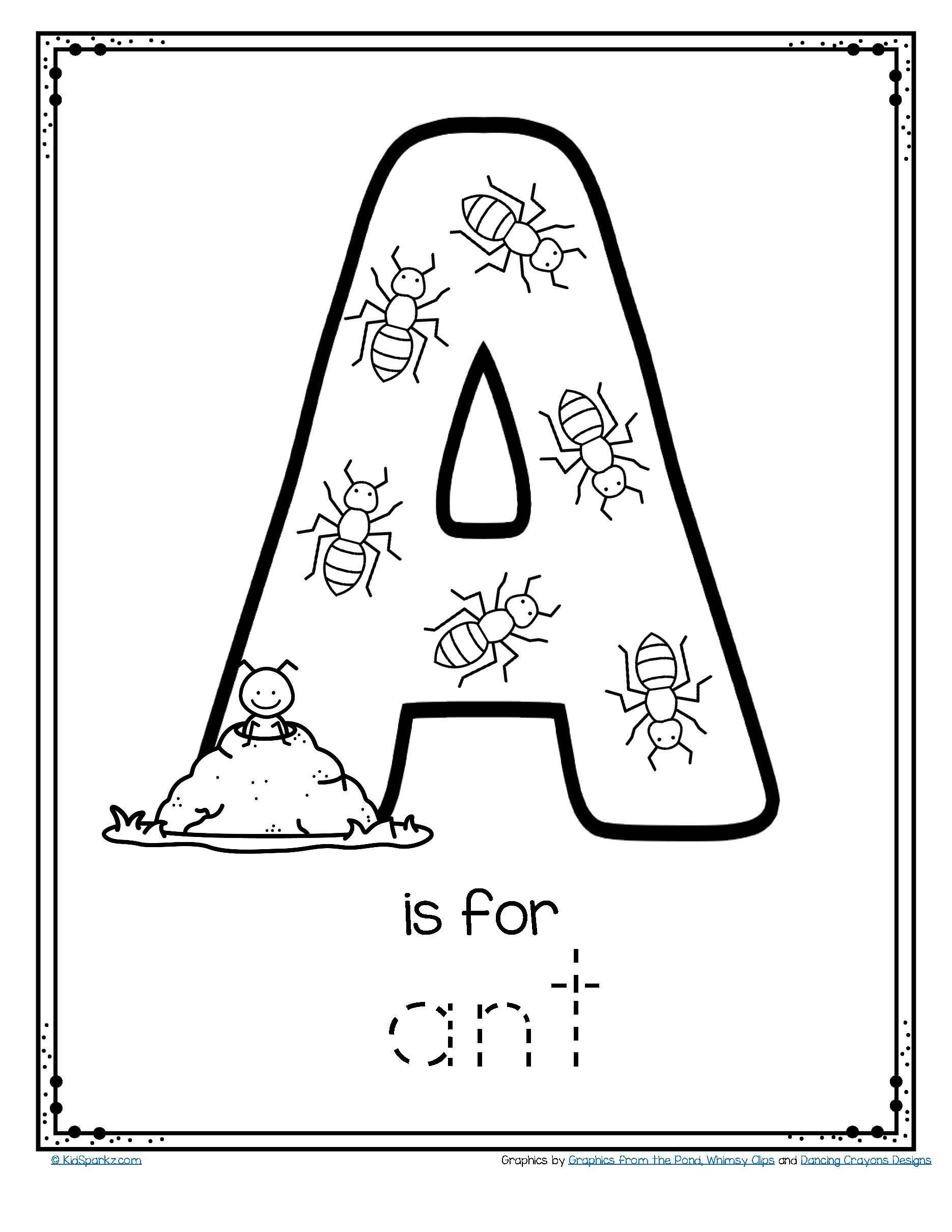 Free A Is For Ant Alphabet Letter Printable Alphabet