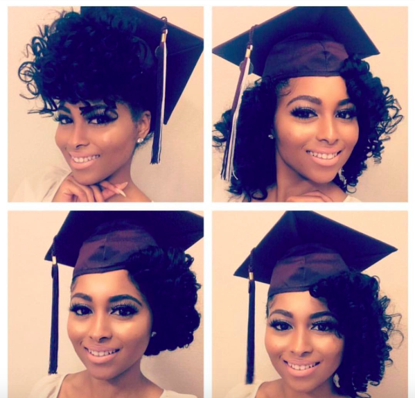 5 Ways To Slay Your Cap Gown Voice Of Hair Graduation Hairstyles Graduation Hairstyles With Cap Natural Hair Styles