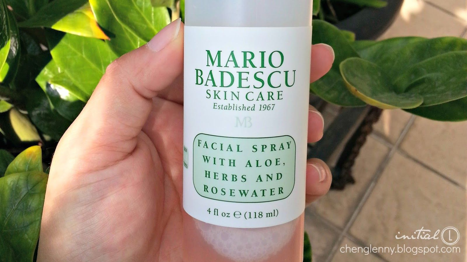 Initial L Review Mario Badescu Facial Spray With Aloe