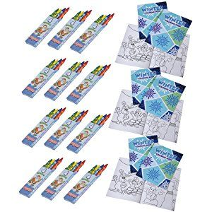24 Piece Bulk Mini Winter Coloring Books & Christmas Crayons ...