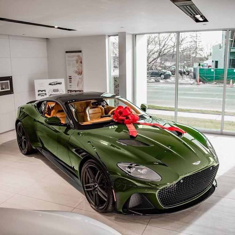 Lovely gift! Green Aston Martin DBS Superleggera carporn