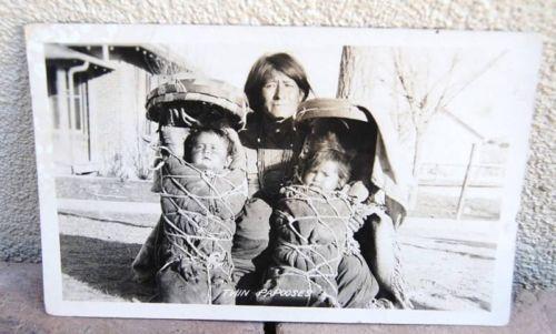 RPPC Photograph Willis Gallup Cradleboard Babies Indian | eBay