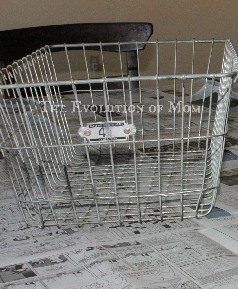 The Evolution of Mom: VIntage Wire Basket DIY   Organization ...