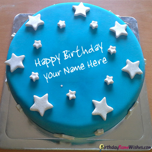 Stars Birthday Cake For Brother With Name Editor Generator Happy