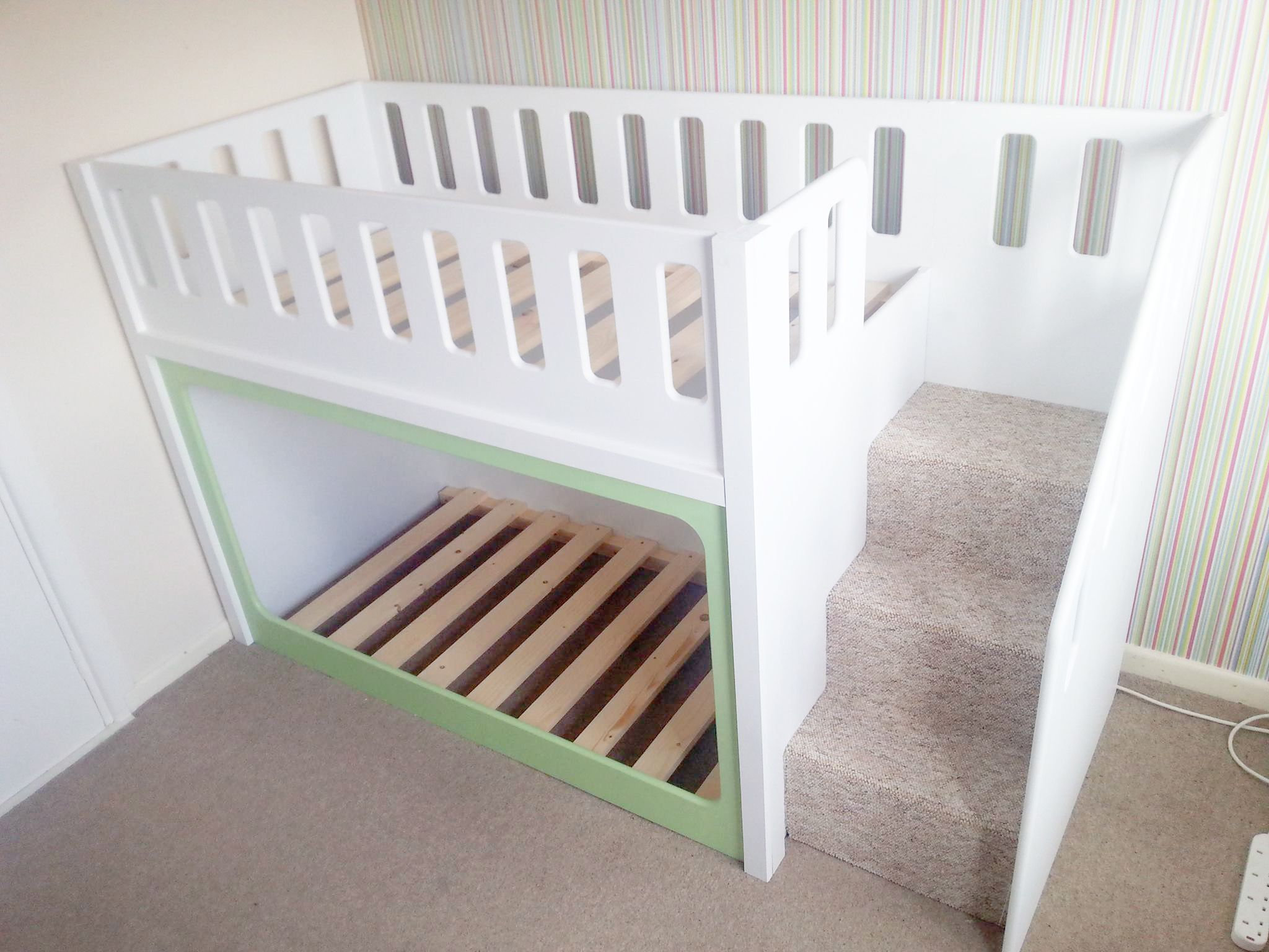 Low loft bed with stairs - Low Bunk Beds For Toddlers Style E2 80 93 Toddler Ideas Image Of Diy 4