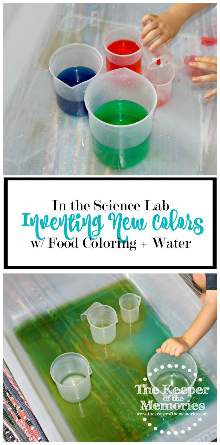Inventing New Colors w/ Food Coloring + Water | Color activities ...