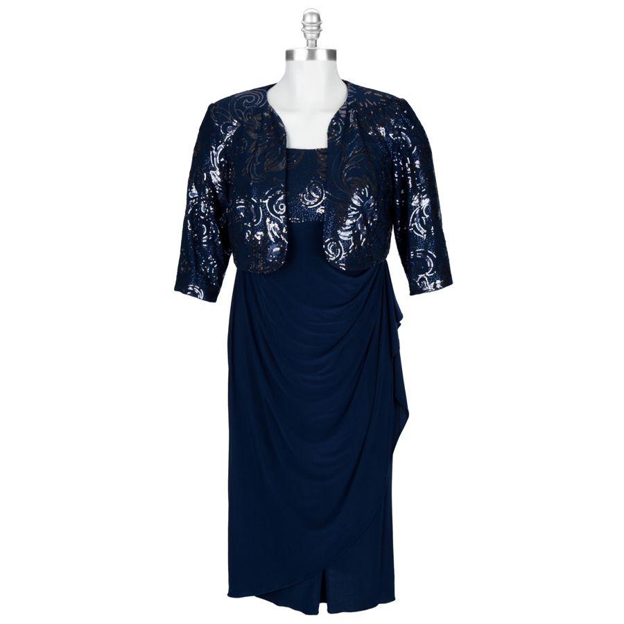 Alex Evenings Micro Sequin Tea Length Dress With Jacket Mother Of Groom Dresses Tea Length Dresses Dresses [ 900 x 900 Pixel ]