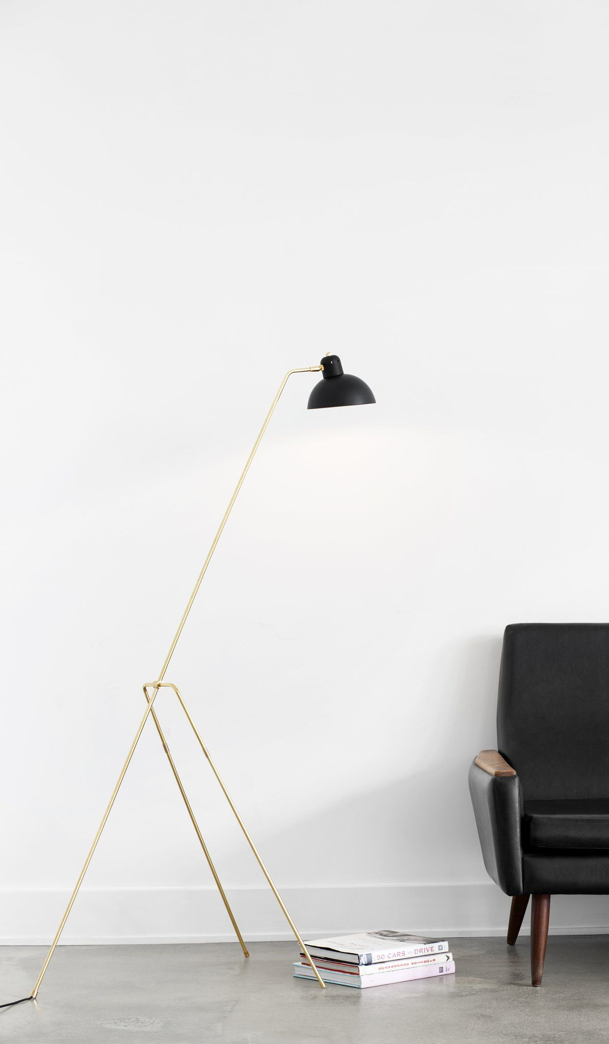 Lambert Fils Grue Floor Lamp Home Goods Lambert Fils Spartan Shop Floorlamps With Images Lamps Living Room Modern Floor Lamps Floor Lamp