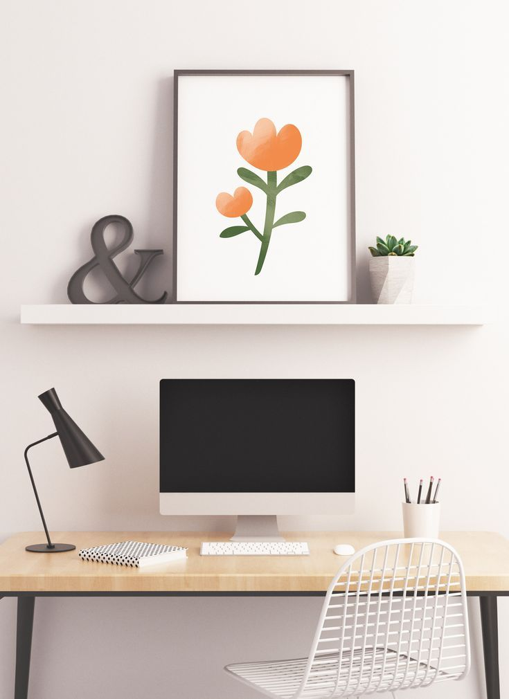Photo of Minimal Floral Print – Girly Printable Wall Art, Boho Dorm Decor, Feminine Bedroom Wall Art, Decor f