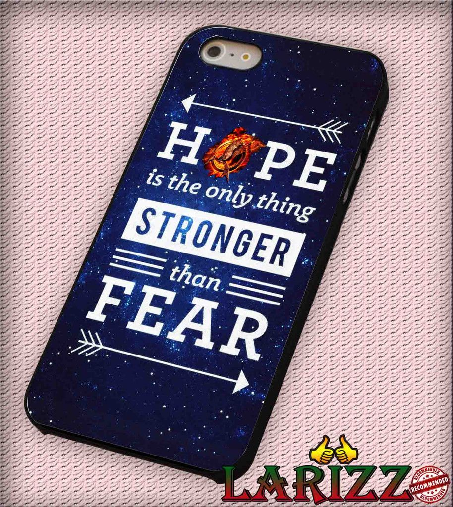 "Hunger Game Hope Quotes for iPhone 4/4s, iPhone 5/5S/5C/6/6 , Samsung S3/S4/S5, Samsung Note 3/4 Case ""007"""