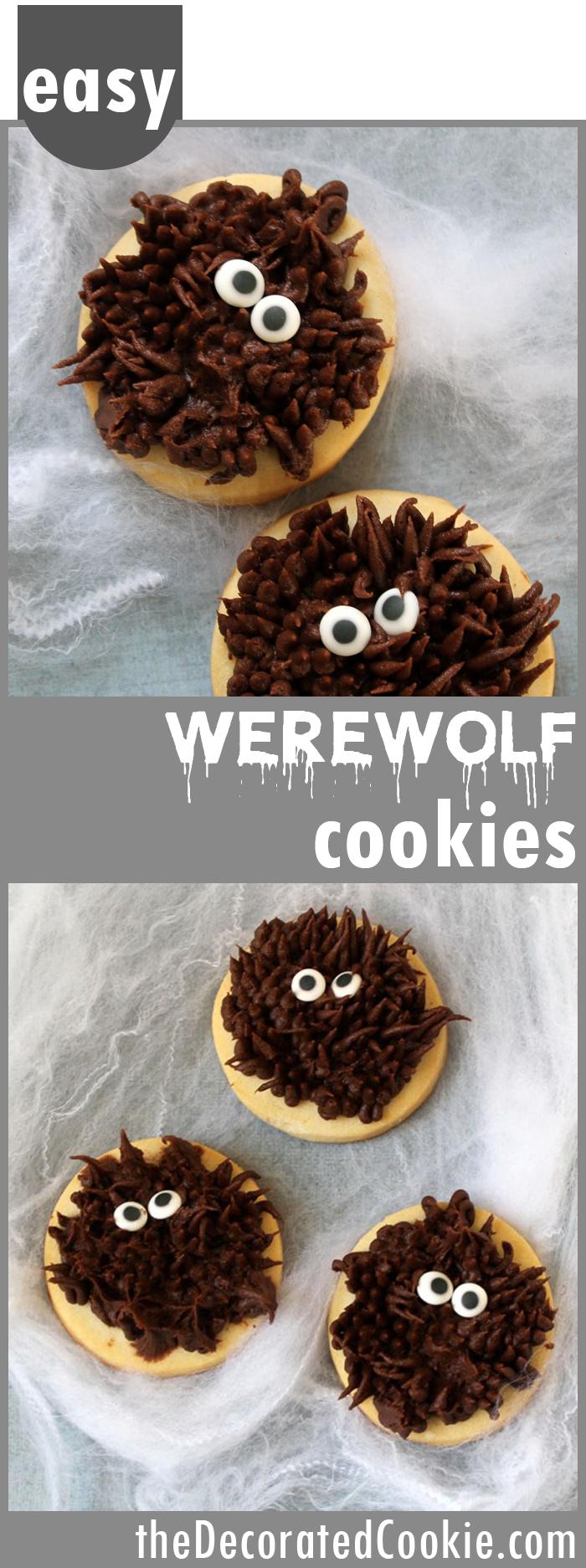 WEREWOLF COOKIES super simple chocolate Halloween