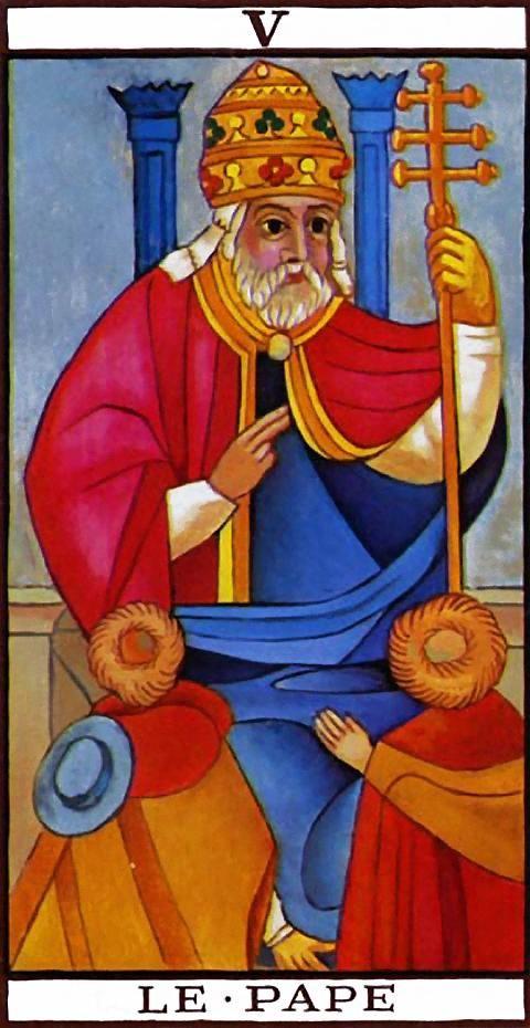 The Hierophant - V - Major Arcana | Tarot de Marsella