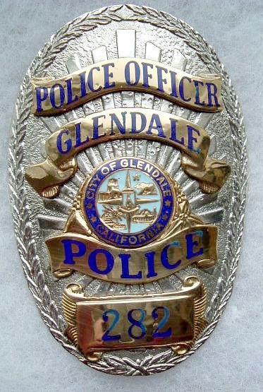 Glendale Pd Calif 2 Police Badge Badge Fire Badge