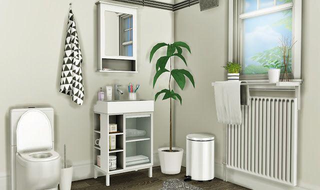 Sims 4 CC\'s - The Best: IKEA LILLÅNGEN Bathroom Set by MXIMS ...