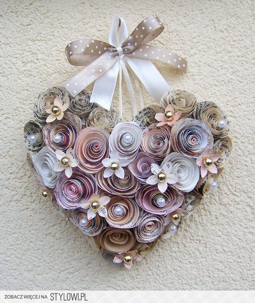quilled hanging heart decoration cherryart quilling On decoration quilling