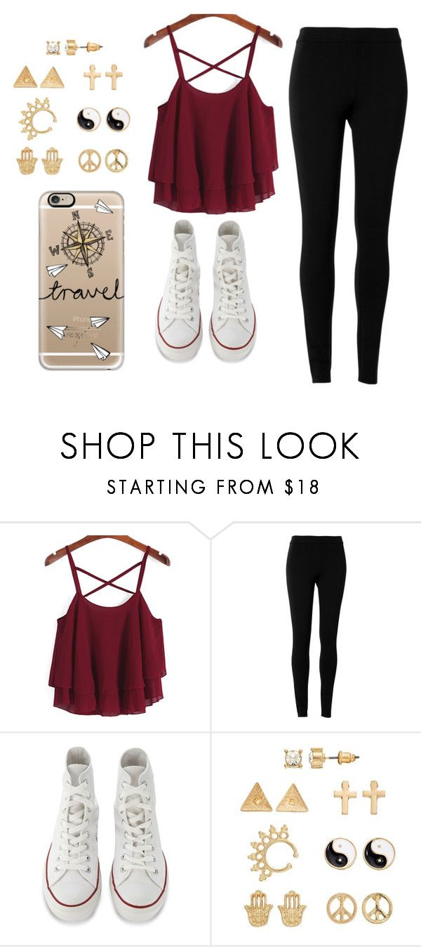 """No school!!!"" by elisabeth2004 ❤ liked on Polyvore featuring Max Studio, Converse, Mudd and Casetify"