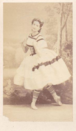 RARE 1863 Disderi Carte de Visite Elise Parent Paris Ballerina Dancer Opera CDV | eBay