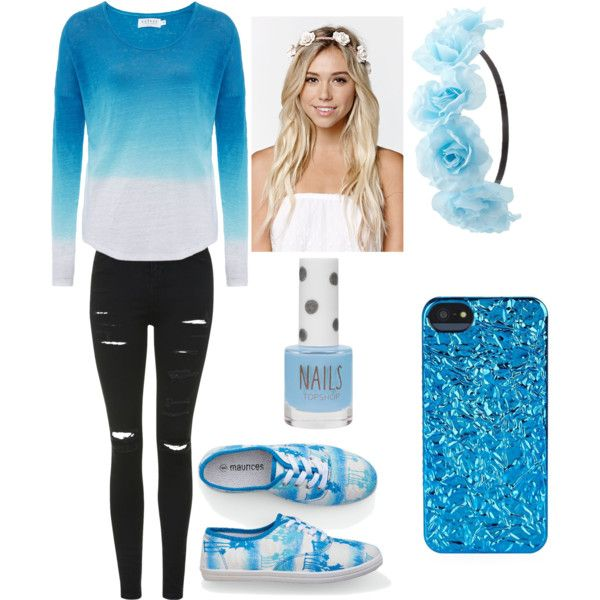 b78735a12 Blueee by alexxis1000 on Polyvore featuring polyvore fashion style ...