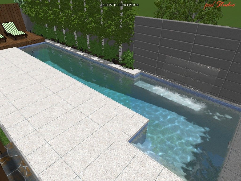 Custom Backyards With Lap Pool Simple Image Detail For March 2012 Specials  Spasa Pool Show « Neptune