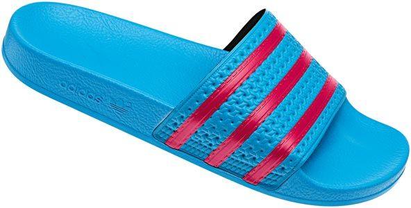 Adidas Adilette slipper blauw rood | Blauw, Pantoffels, Adidas