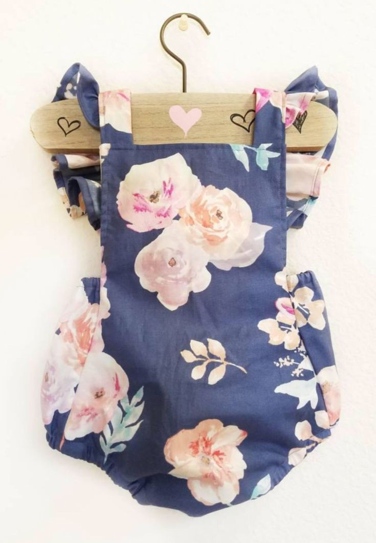 6d4b4fabac4 Handmade Floral Baby Romper