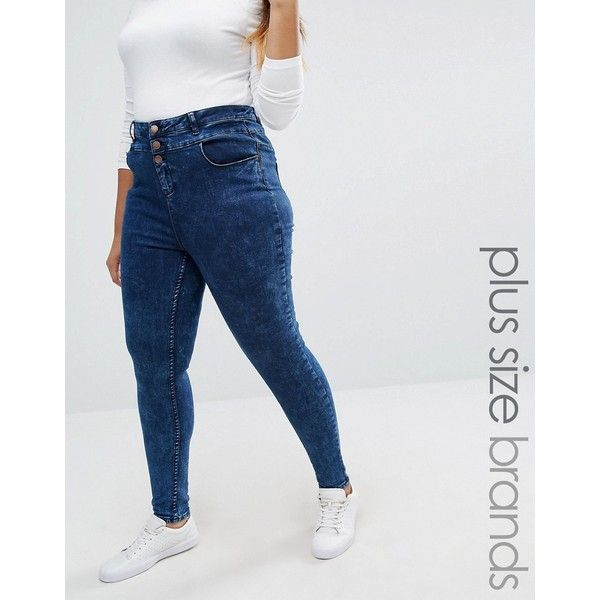 New Look Plus Highwaisted Skinny Jeans ($37) ❤ liked on Polyvore ...