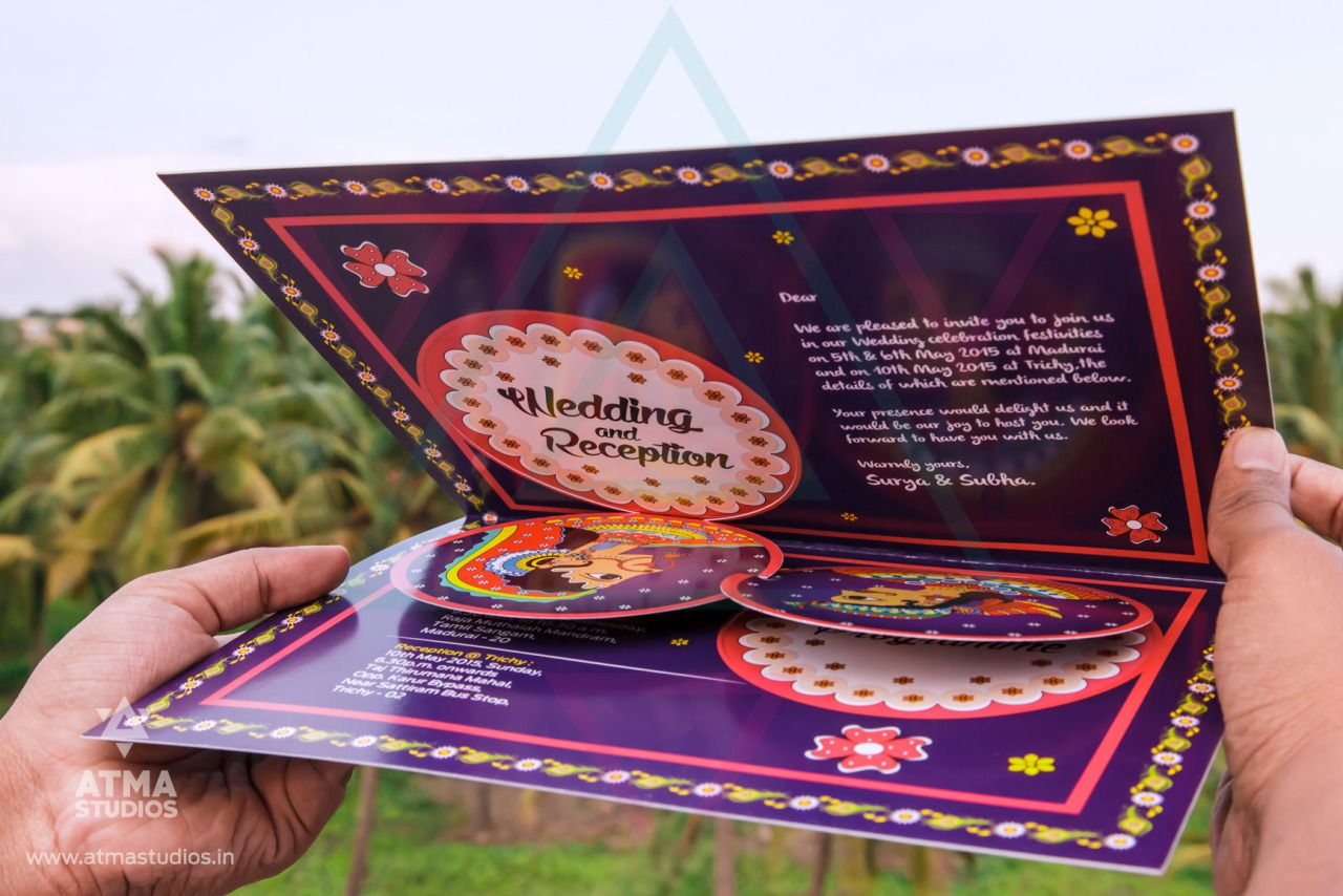 indian wedding invitations This Unique South Indian Wedding Invitation is based on the 16 Wealth offering Tamil Cultural blessing