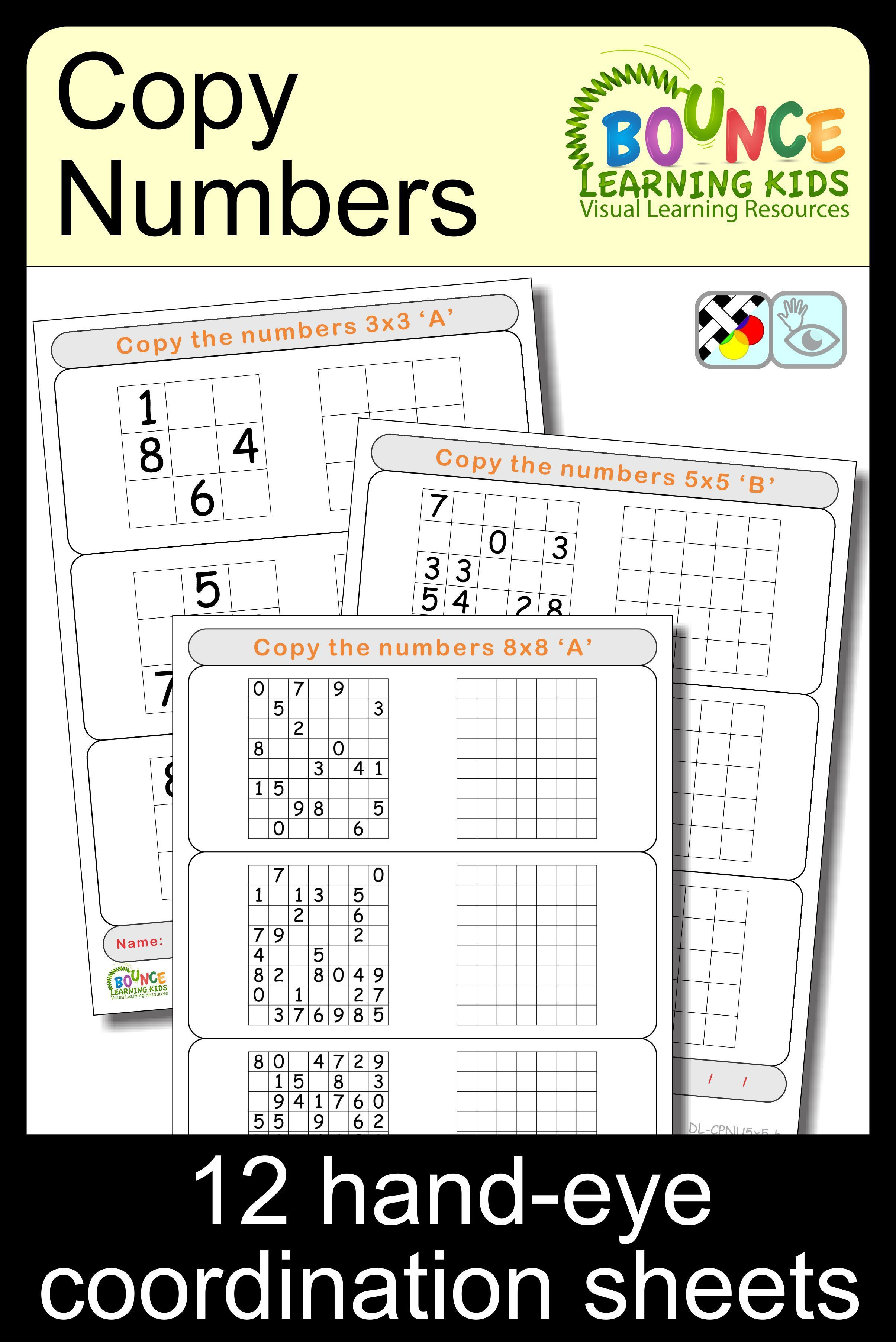 Just Copy The Numbers Each Worksheet Depicts A Grid With