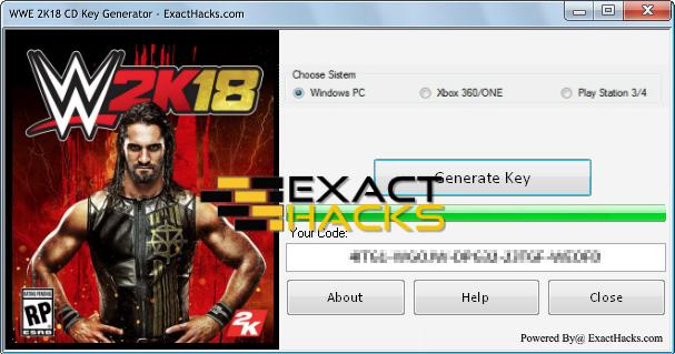 WWE 2K18 CD Key Generator   WWE 2K18 Serial Key Generator No Survey