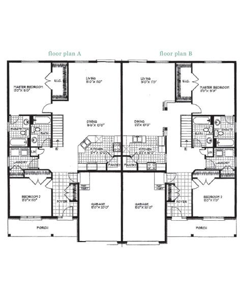 This Model Is A Semi Detached Bungalow It Is The Carleton Model Bungalow House Plans Semi Detached House Plans