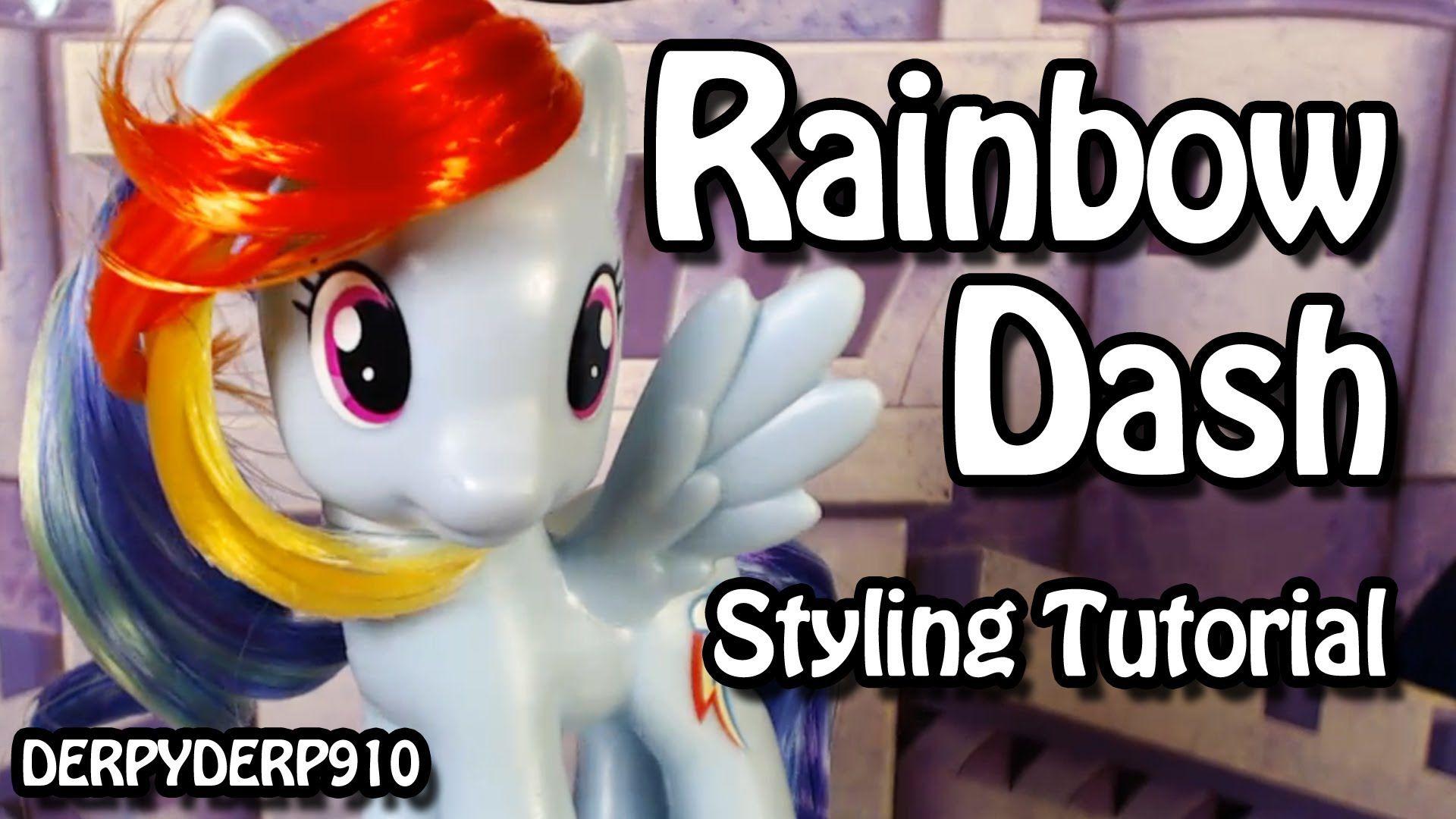 My Little Pony Rainbow Dash Hair Styling Tutorial Rainbow Dash My Little Pony Pony