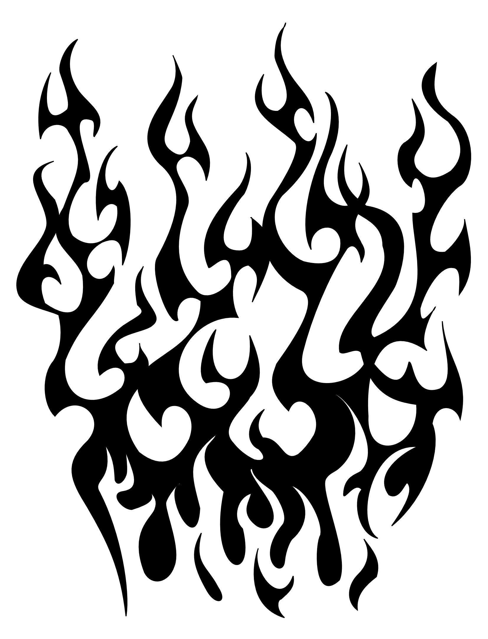 tribal flames sleeve tattoojpg - clipart best