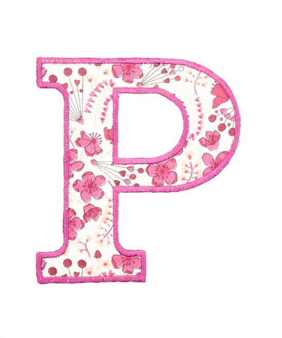 P For Pink Alphabet Style Liberty Print Crafts Sewing Patterns